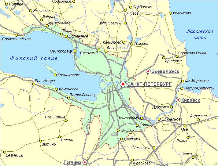 Карта районов г.
