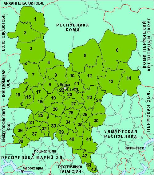 Карта Кильмезского Района Кировской Области