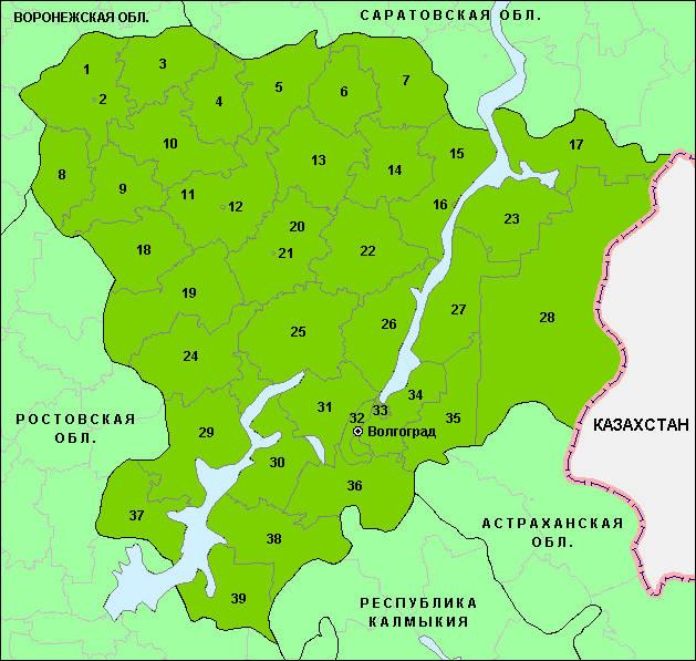Главная / Карта Волгоградской